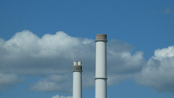 Chimney, Industry, Factory, Power Plant, Pollution