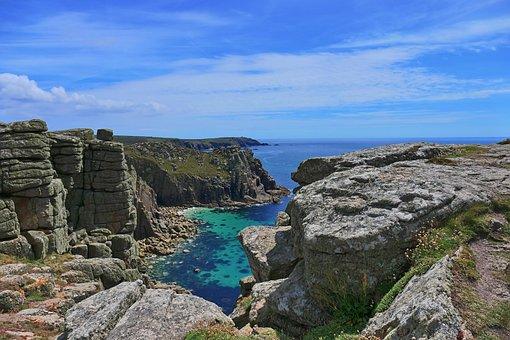 England, Cornwall, Land's End, Coast, Landscape
