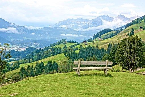Panorama, Alpine, Landscape, Mountains, View