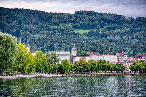 Bregenz, Lake Constance, Martin Tower, Lakeside, Mole