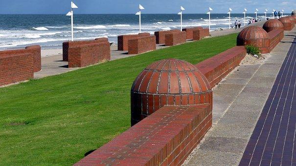 Norderney, North Sea, Promenade, Beach, Coast