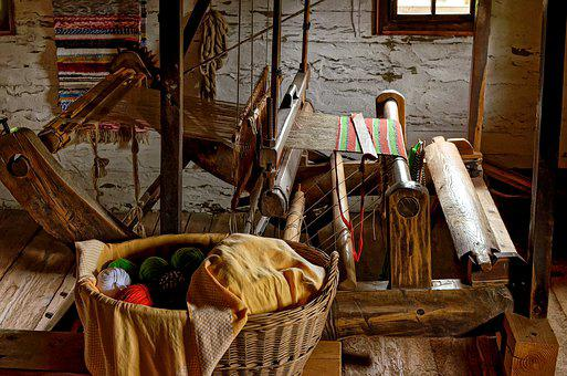 Loom, Weaving, Material, Clothes, Fabrics, Fashion, Old