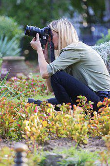 Girl, Woman, Young, Person, Blonde, Photographing