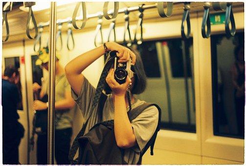 Take Photo, Pretty, Girl, Film, Photographer