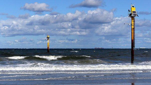 North Sea, Beach, Norderney, Sea, Coast, Wave