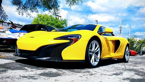 Car, Sport, Sports Car, Yellow, Auto, Fast, Speed
