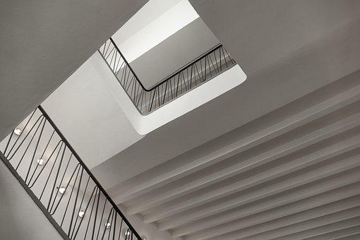 Stairs, Economic Miracle, Architecture, Interior