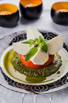 The Mozzarella De Bufula, Gastronomy, Pesto, Gourmet