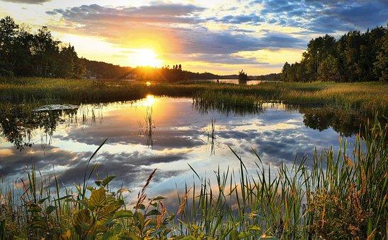 Sunset, Twilight, Landscape, Nature, Environment, Water