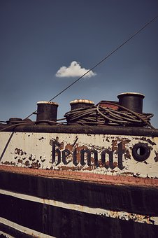Home, Berlin, Ship, Old, Wreck, Rusty, Port, Boat, Kahn