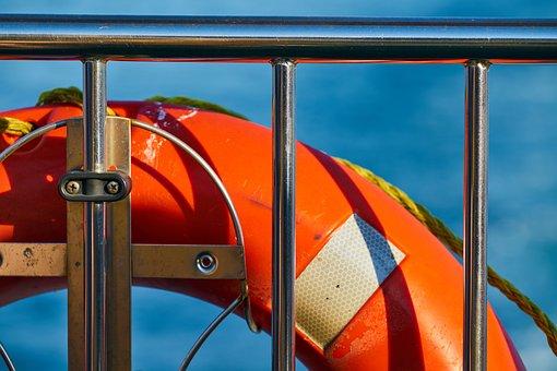 Ship, Lifeguard, Bagel, Boat, Orange, Warning