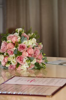 Wedding, Flower, Ceremony, Town Hall, Bouquet, Roses