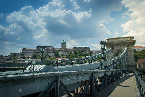 Bridge, The Danube, Budapest, Hungary, Architecture