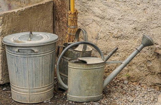 Watering Can, Bucket, Gardening, Casting, Garden