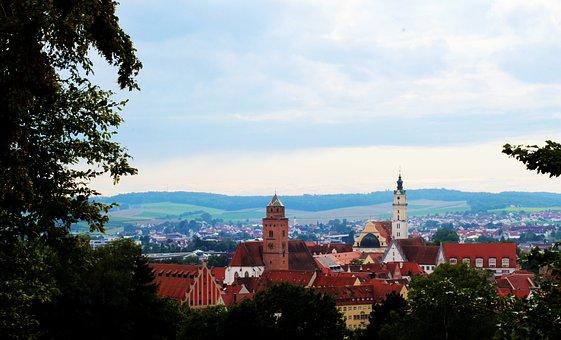 Donauwörth, Bavaria, City View, Historic Center
