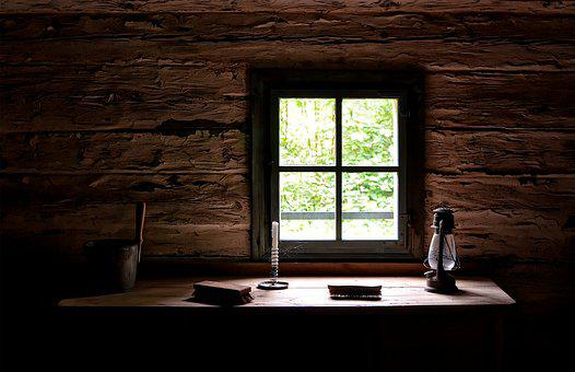 Window, Cottage, Dining Table, Replacement Lamp