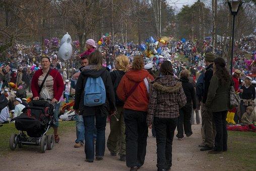 First Of May, Helsinki, Wells Park, Celebration
