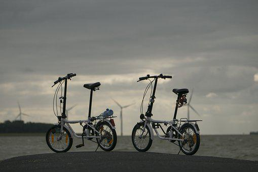 Vacations, Bike, Tour, Water, Sea, Sky, Clouds, Holland