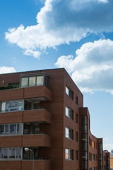 House, Clouds, Be, Residential, Sky, Bricks, Modern