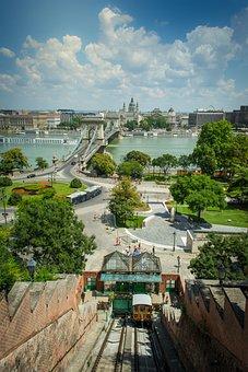 Széchenyi, Lánchíd, Chain, Vysutý, Bridge, The Danube