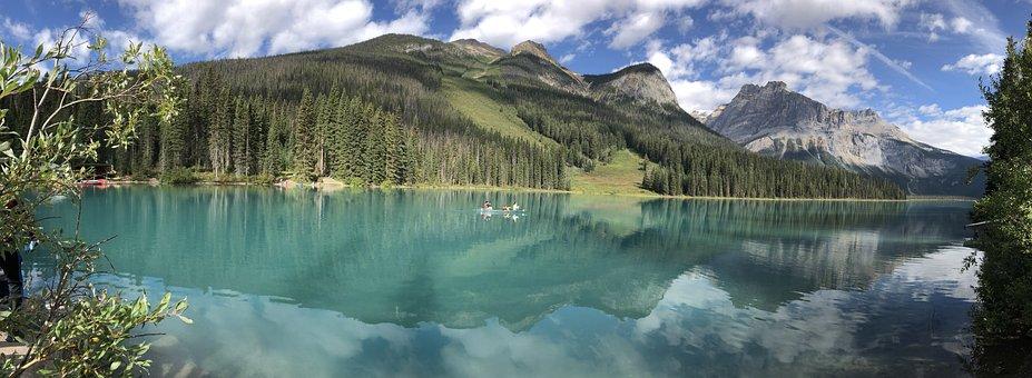 Emerald Lake, Bc, Canada, Yoho National Park, Landscape