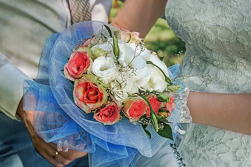 Bridal Bouquet, Wedding, Love, The Bride And Groom