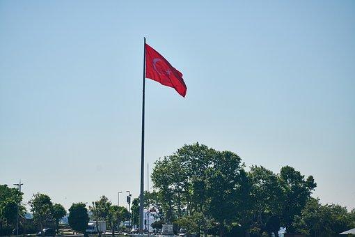 Flag, Turkish, Turkey, Red, Month, White, Symbol