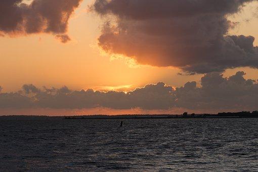 Sunset, Evening, Orange, Clouds, Sky, Dusk, Mood