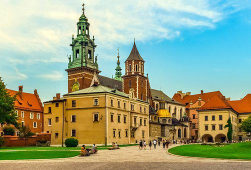 Wawel Castle, Krakow, Poland, Architecture, Monument