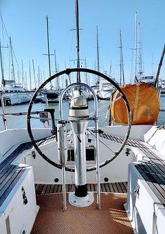 Sea, Sailing Boat, Helm, Seafaring, Sailing Vessel
