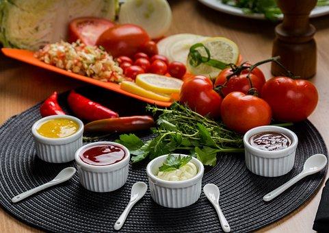 Vegetables, Mustard, Gastronomy, Tomato, Sauces