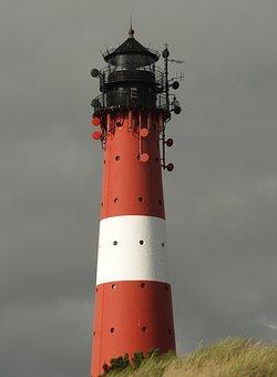 Hörnum, Sylt, Lighthouse, Island, Sea, Vacations, Dunes