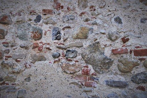 Lake Dusia, Wall, Stone, Walls, Granular, Structure