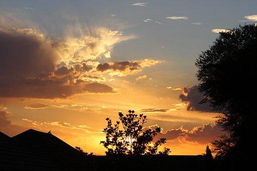 Sunset, South Africa, State, Bloemfontein, Summer, Sun
