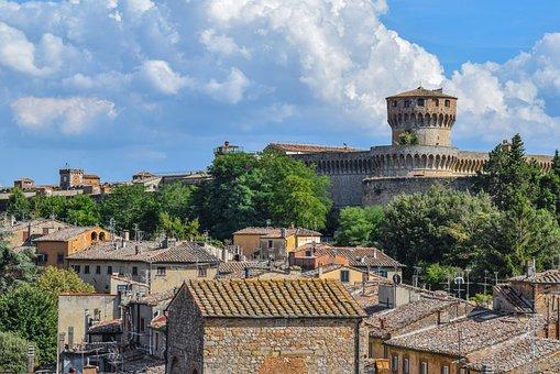 Volterra, Panorama, Architecture, Italy, Travel, City