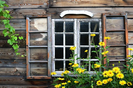 Window, Wood, Architecture, Old, Frame, House, Wall