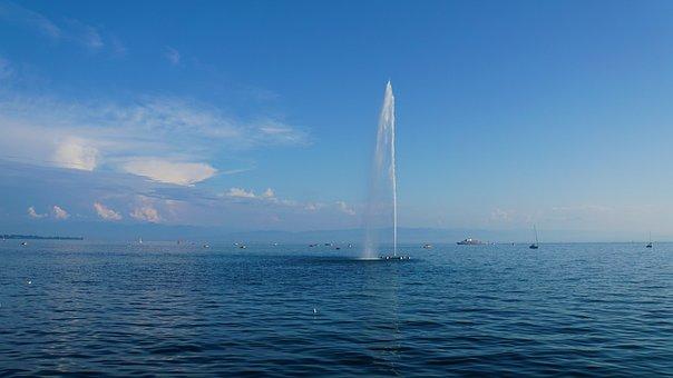 Lake Constance, Friedrichshafen, Water, Sky, Clouds