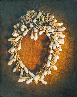 Wreath, Hair Accessories, Wax Beads, Hand Labor, Art