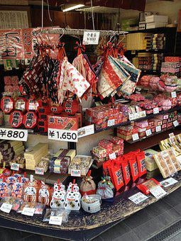 Japan, Tokyo, Of Deposit, Sweets, Toys, Apron, Doll