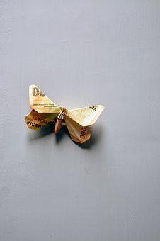 Origami, Butterfly, Money, Paper, Japan, Insect, Dollar
