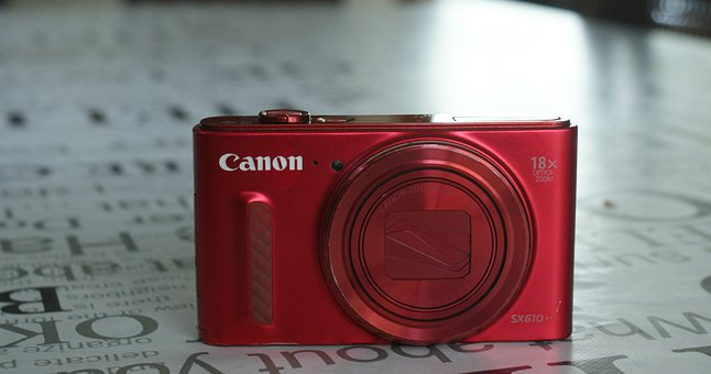 Camera, Red, Canon, Surface