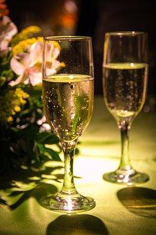 Champagne, Bowls, Drink, Beautiful, Light, Toast