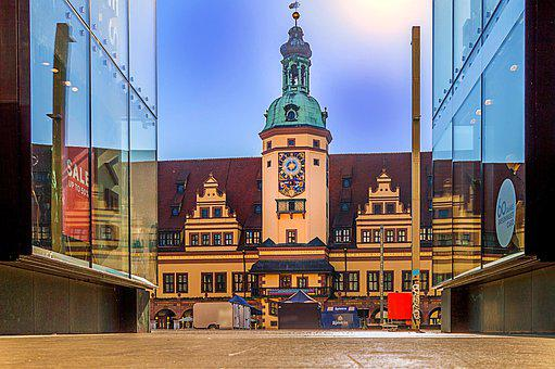 Leipzig Old Town Hall, City, Passage, Architecture