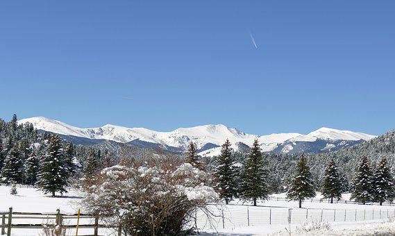 Colorado Mt, Evans, Mt, Snowcapped Mt, Rocky Mountains