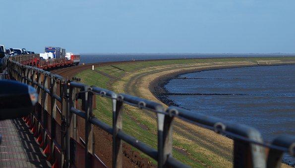 Sylt, Sylt Shuttle, Hindenburg Damm, Railway, Island