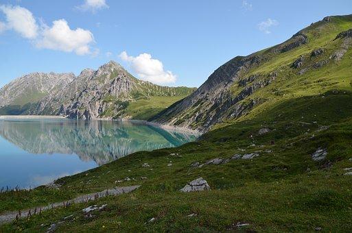 Mountains, Lake, Landscape, Nature, Alpine