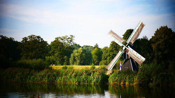 Mill, Netherlands, Holland, Landscape, Wind Mill, Water