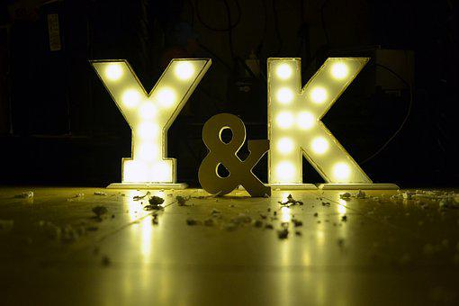 Letters Illuminated, Letters Y And K, Love, Spotlights