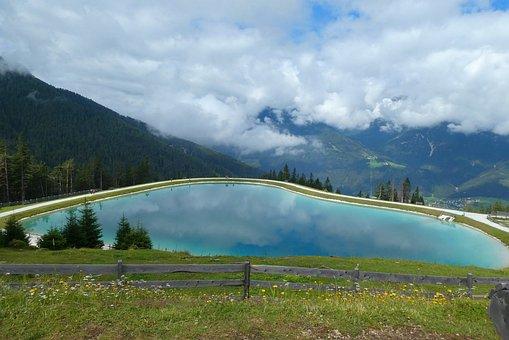 Mountain, Mountain Lake, Alps Panorama, Reached