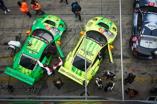 Racing Car, Motorsport, Pit Lane, Porsche, Nürburgring